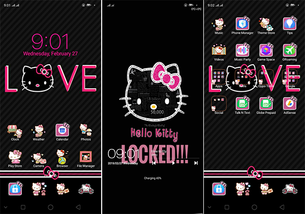 Oppo Theme: Oppo A3s Black Kitty Theme