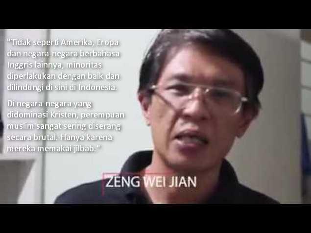 Zeng Wei Jian: Indonesia Surga Bagi Kaum Minoritas, Yang Tak Didapat di Amerika dan Eropa