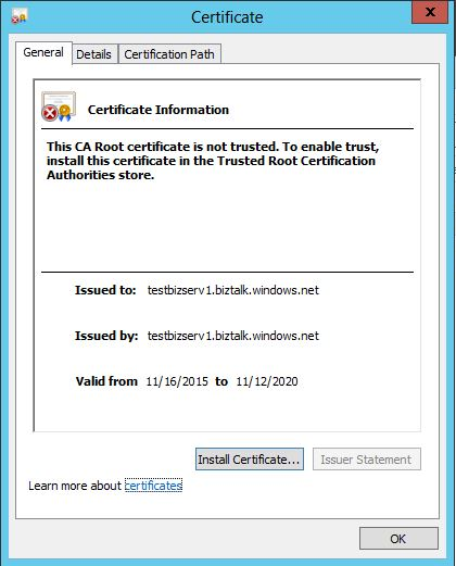 Click on Install Certificate
