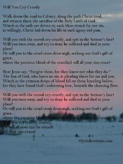 Song Lyrics Matt 27:27-31