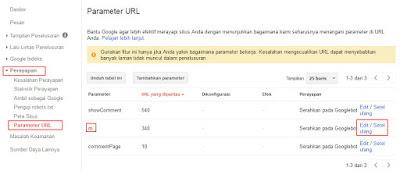 parameter url webmaster tool