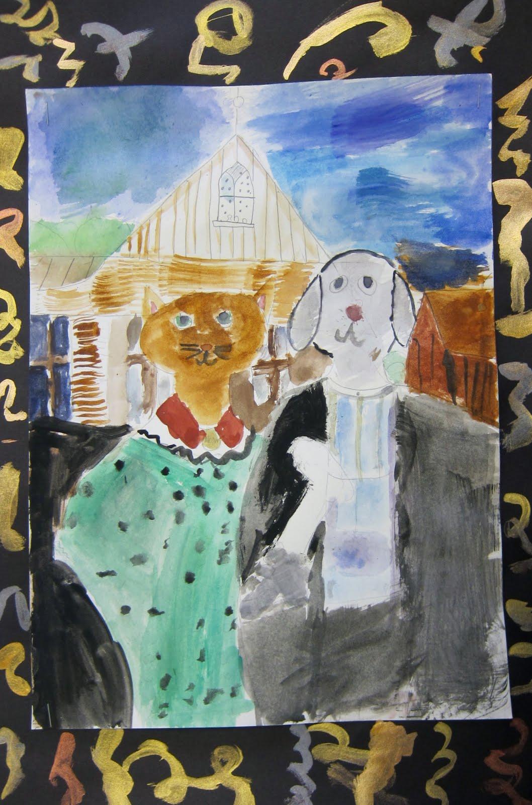 Art Is Basic Art Teacher Blog American Gothic Third Grade