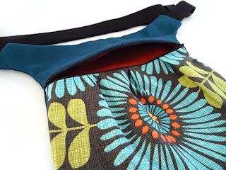 pochette ceinture fait main femme coloré