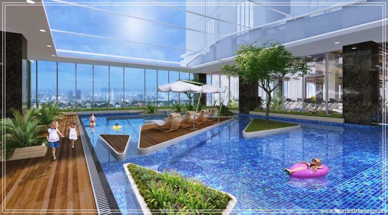 Bể bơi chung cư Marriott Đà Nẵng