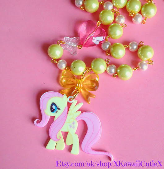 New Fluttershy My Little Pony Kawaii Necklace