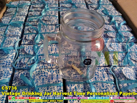 jual Vintage Drinking Jar Harvest Time Personalized Paperbox