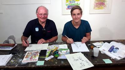Comickurs in der Sommerakademie Gmünd in Oberkärnten