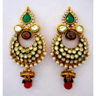 Kundan Jhumkas - Zaamor Diamonds