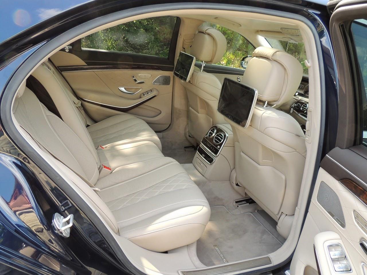 Mercedes S 500 L 4MATIC - tylny rząd siedzeń