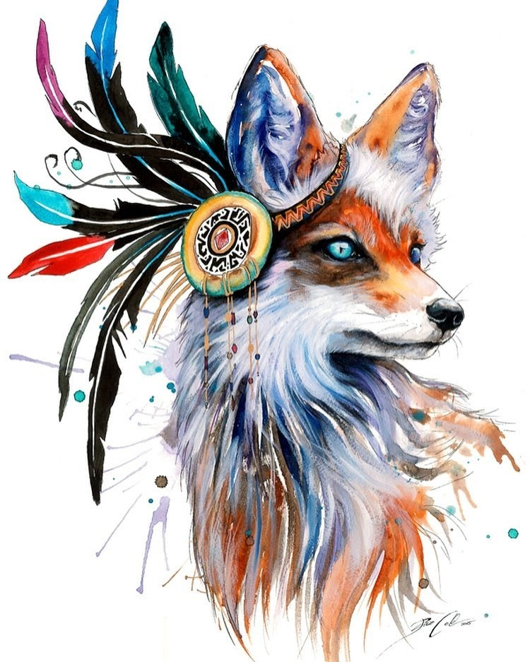 01-In-nature-spectrum-Fox-Pixie-Cold-Fantasy-Animals-in-Different-Style-Drawings-www-designstack-co