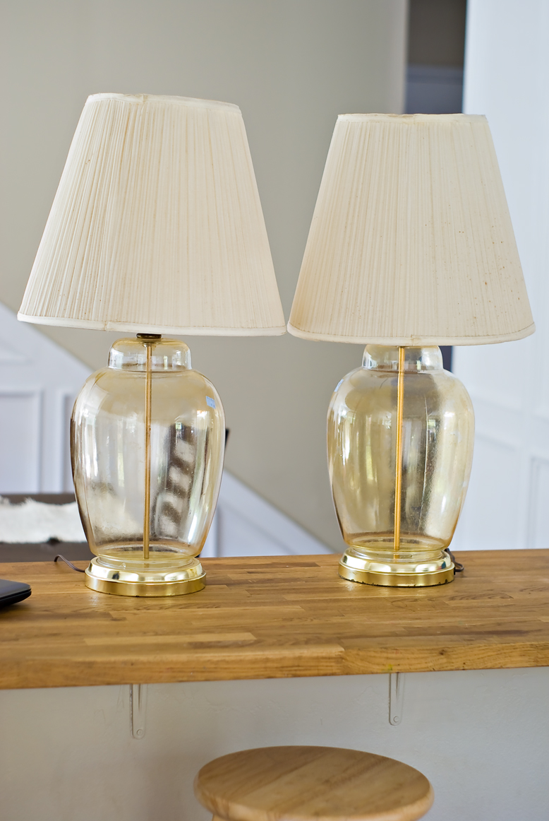 Easy Peasy Pie Clear Glass Lamp Redo