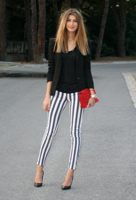 Chic Lollipop Pantalones A Rayas