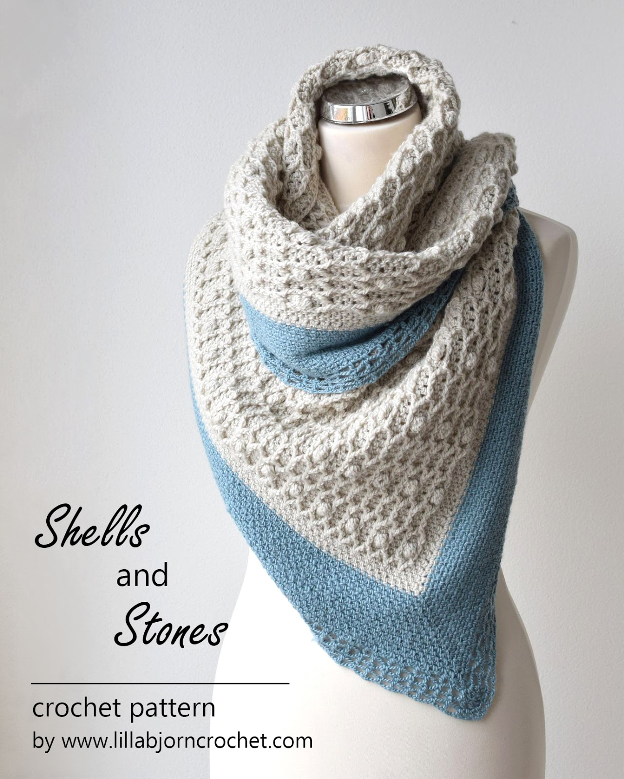 Shells And Stones Cabled Shawl New Pattern Lillabjrns Crochet World