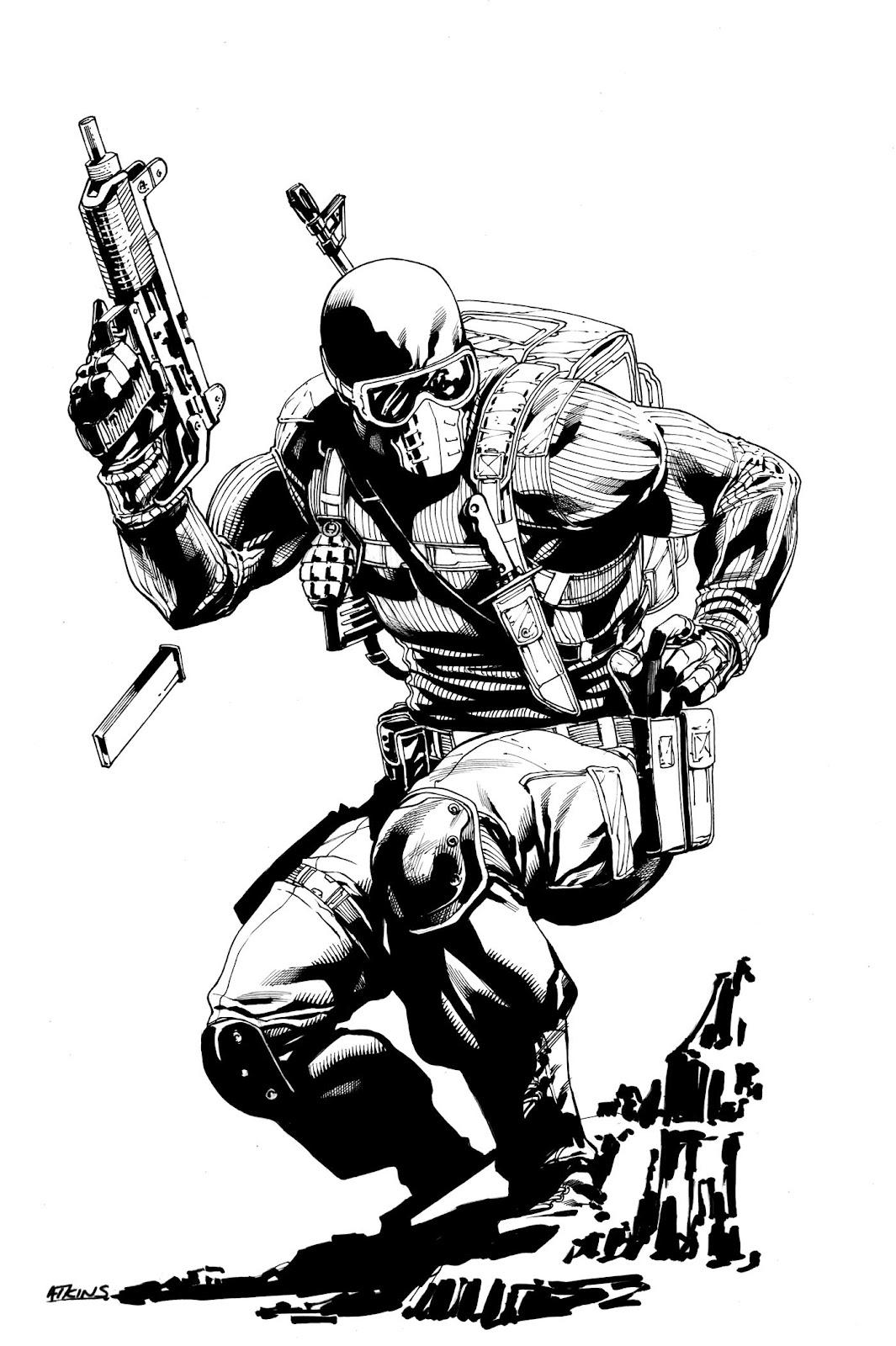 Robert Atkins Art Commando Snake Eyes
