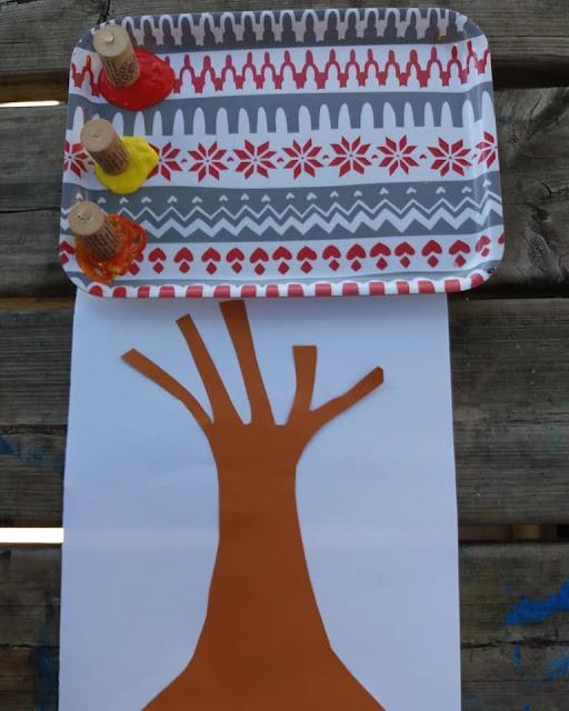 arbre d'automne en peinture activités d'automne