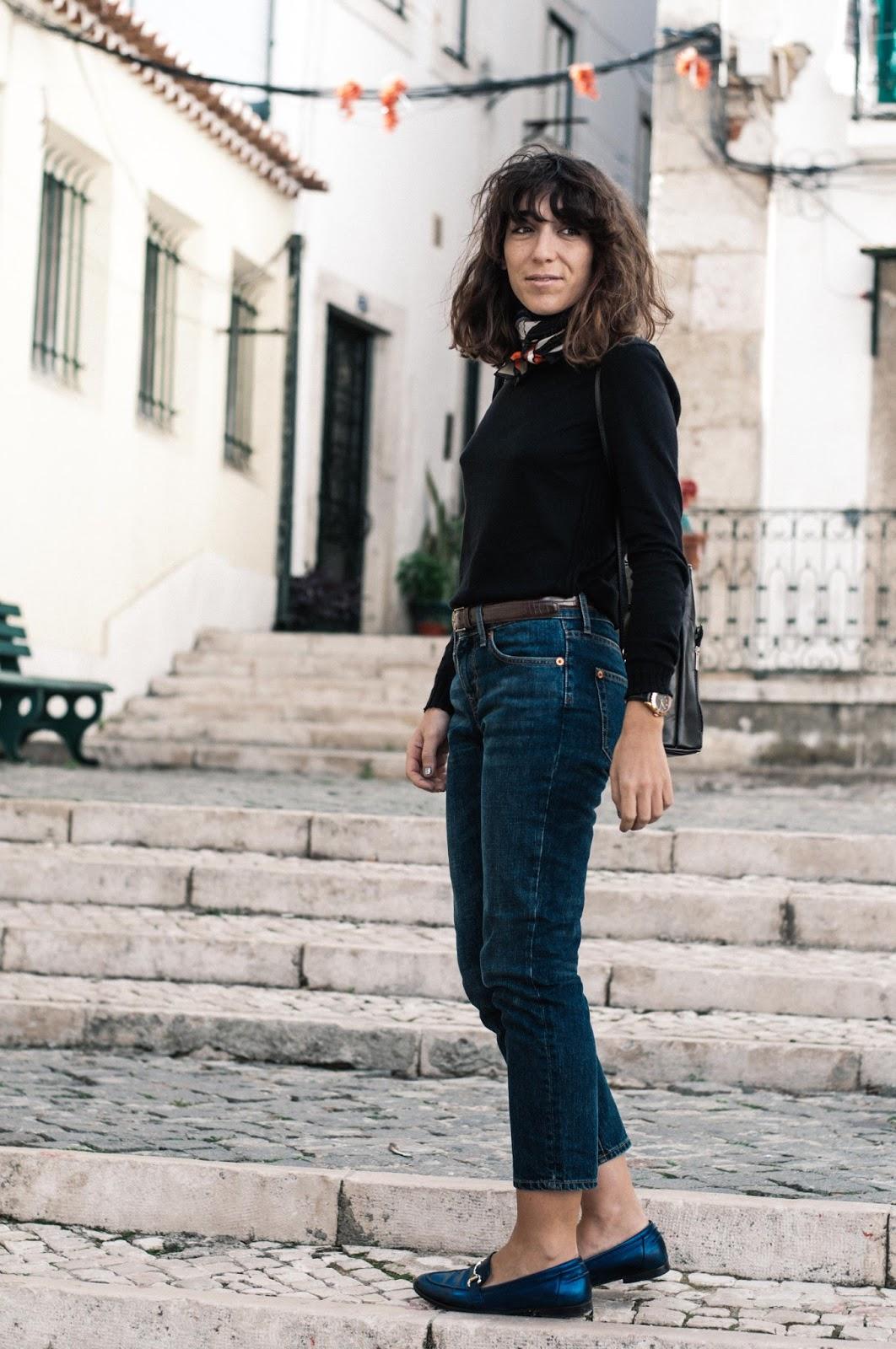Jeans, Jersey Mango, Mocasines Uterque