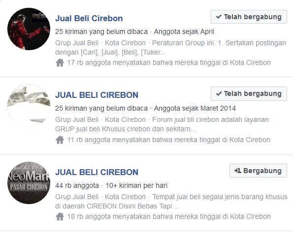 Menjual barang di facebook