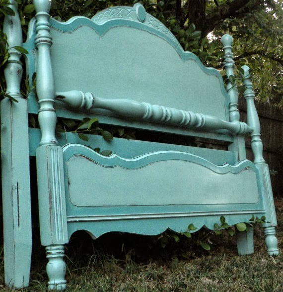 This Farmhouse Painted Bed From Harrismarkshome Is One