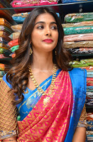 Puja Hegde looks stunning in Red saree at launch of Anutex shopping mall ~ Celebrities Galleries 037.JPG