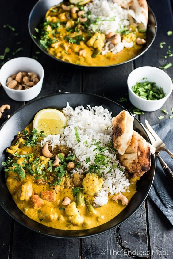 CREAMY COCONUT VEGETARIAN KORMA #creamy #coconut #vegetarian #vegetarianrecipes #korma #veggies #veganrecipes