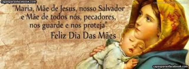 Banner de capa para Facebook - Dia das Mães - Maria Mãe de Jesus