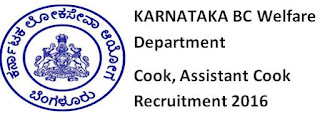 Karnataka BC Welfare Dept Cook Recruitment 2016 Question Paper Syllabus