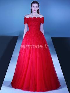 toutes les tailles d'hiver la dentelle au printemps la veille de longue robe en dentelle rouge