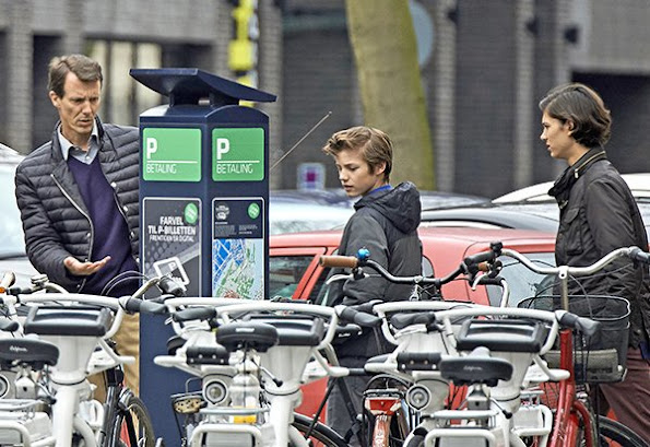 "Prince Joachim of Denmark and his sons Prince Nikolai and Prince Felix were seen at ""Cafe Victor"" in downtown of Copenhagen"