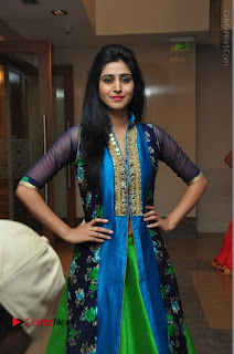Actress Model Shamili Sounderajan Pos in Desginer Long Dress at Khwaaish Designer Exhibition Curtain Raiser  0041.JPG