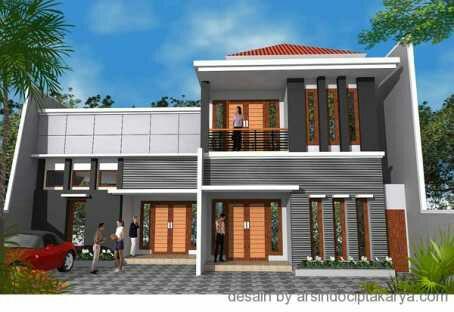 gambar desain rumah minimalis 2 lantai terbaru   foto