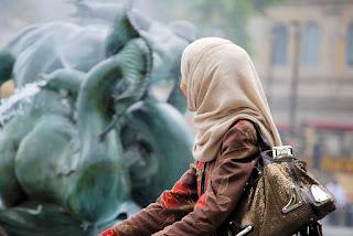 hijab girl back