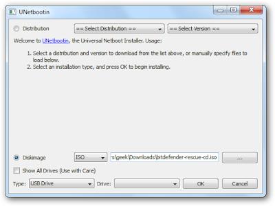 tạo usb quét virus với phần mềm bitdefender