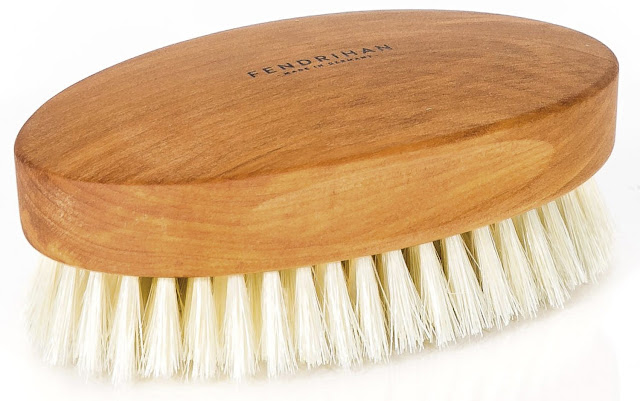 Fendrihan Genuine Boar Bristle and Pear Wood Military Hair Brush, Made in Germany VERY-SOFT LIGHT BRISTLE