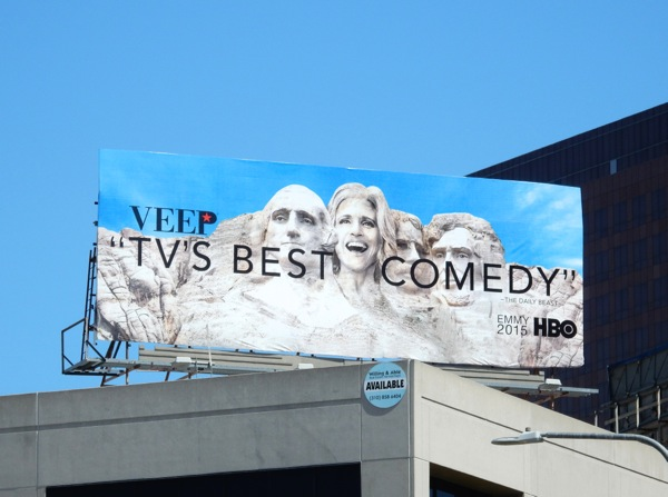 Veep TV's Best comedy Emmy 2015 billboard