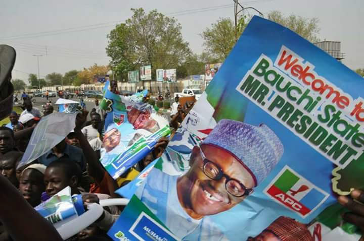 See who came to support President Buhari in Bauchi as he returned