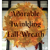 This ADORABLE DIY Fall Twinkling Wreath Is SO Easy The Kiddos Can Help