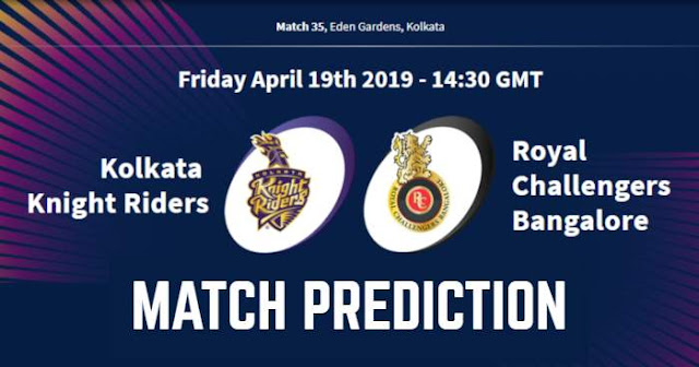 VIVO IPL 2019 Match 35 KKR vs RCB Match Prediction, Probable Playing XI Who Will Win