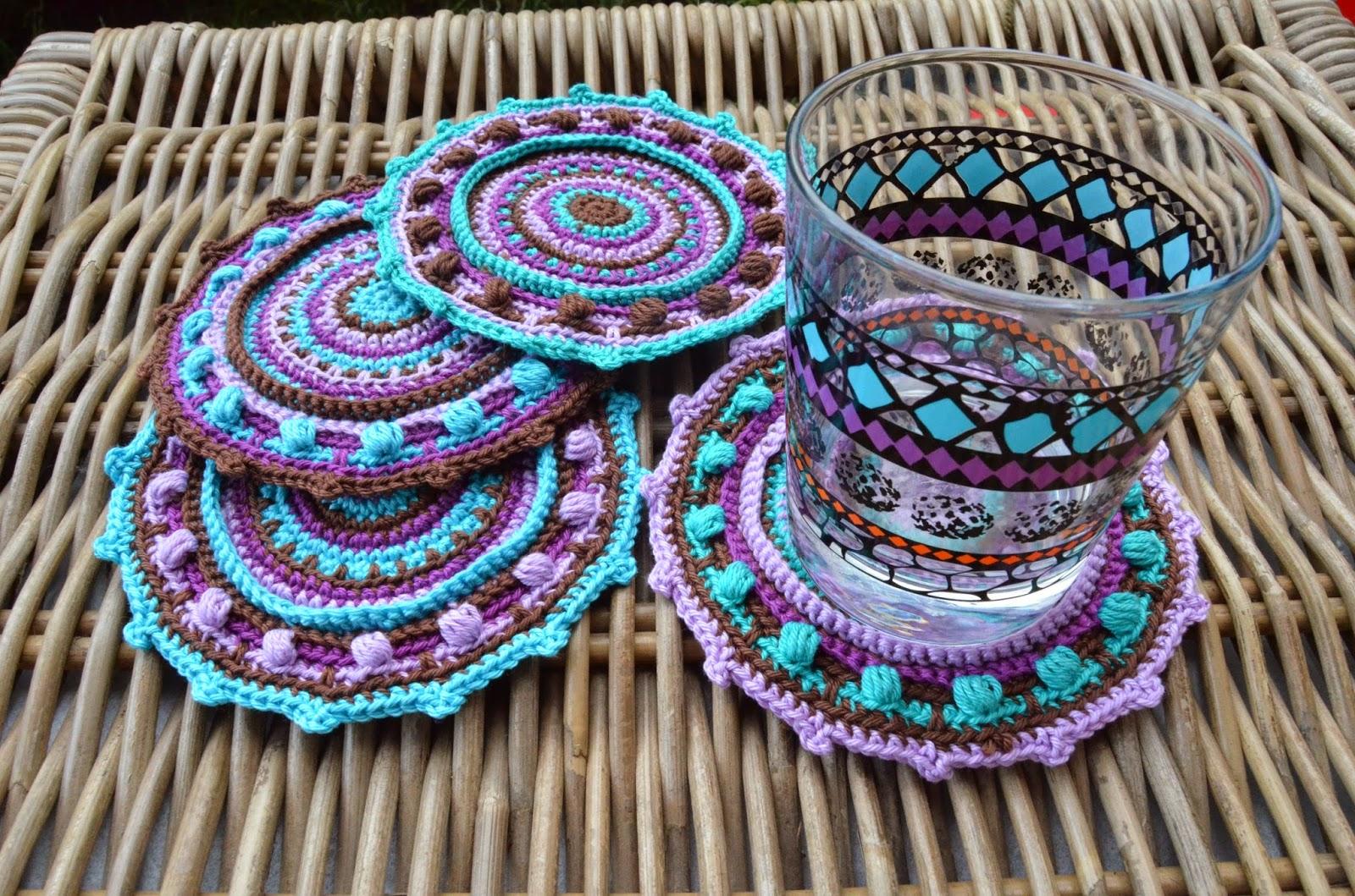 My set of happy summer coasters | LillaBjörn\'s Crochet World