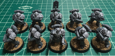Horus Heresy First Tactical Squad WIP mark IV plate