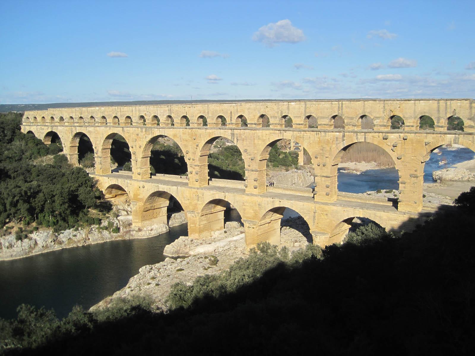 wallpapers: Pont Du Gard Roman Aqueduct