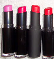 wet&wild lipstick cherry picking pink red moisturizing bright colors black packaging