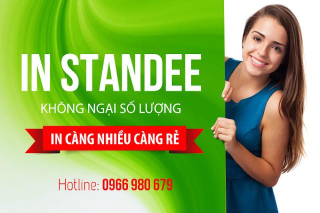 In standee giá rẻ miễn phí thiết kế cho khách hàng in standee tại Hồ Chí Minh