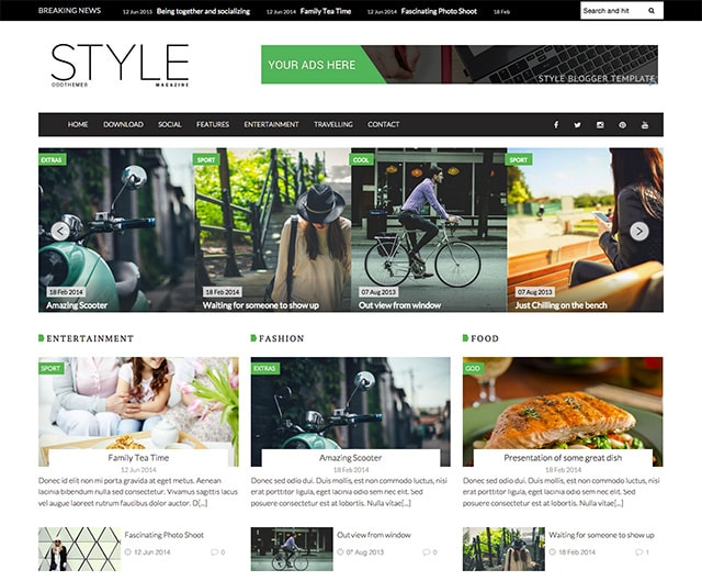 blogger template responsive theme download