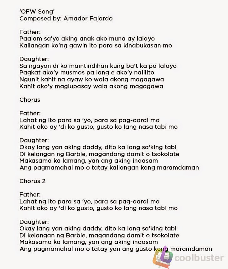 Tagalog Opm Songs With Lyrics Picture Gallery