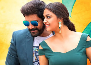 Keerthy Suresh in Green Dress with Vikram in Saamy Square