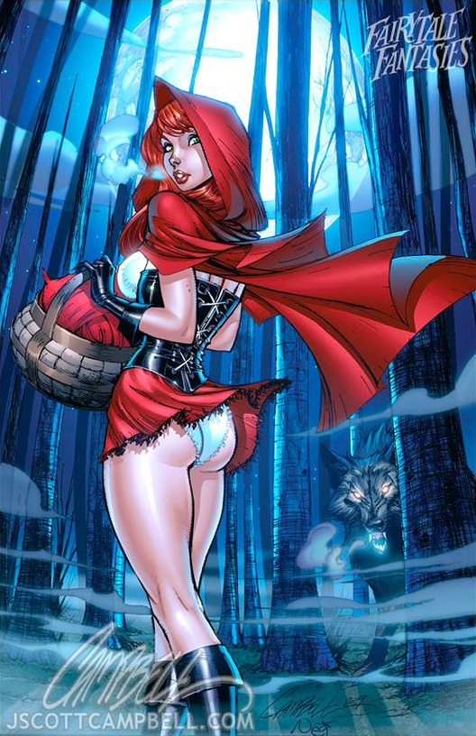 Sexy Little Red Riding Hood Artwork