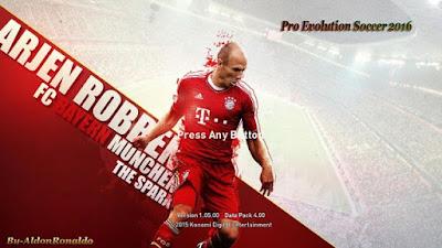 PES 2016 Arjen Robben HD Startscreen By AldonRonaldo
