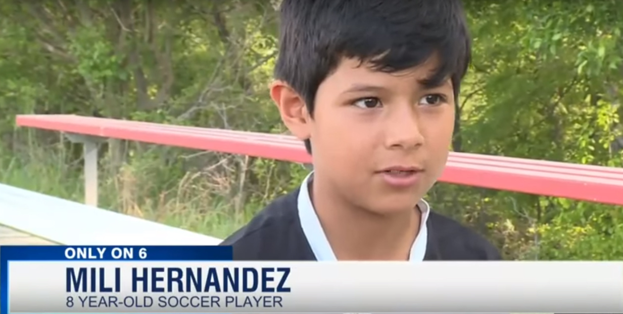 Girls youth soccer player Mili Hernandez looks like a boy