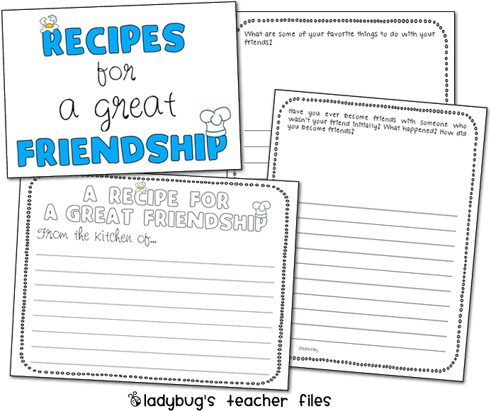 enemy pie friendship writing activities ladybug s teacher files