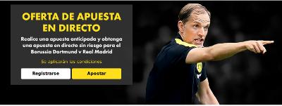 bet365 Oferta directo Borussia Dortmund vs Real Madrid 27 septiembre